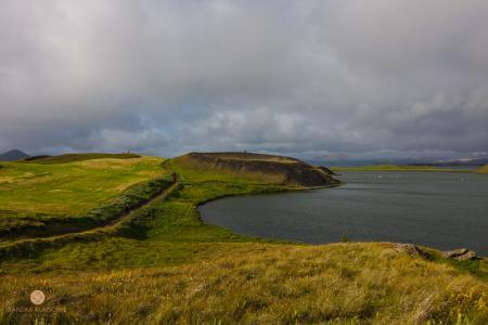 Pseudokrater, Mückensee, Mývatn, Island