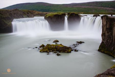 Götterwasserfall, Goðafoss, Island